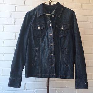Tommy Hilfiger Dark Wash Jean Jacket w/ Peplum XL